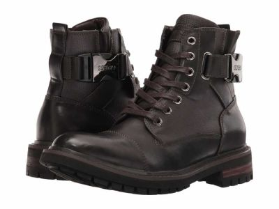 Guess - GUESS Men's Brown Brown Rand Lace Up Boots