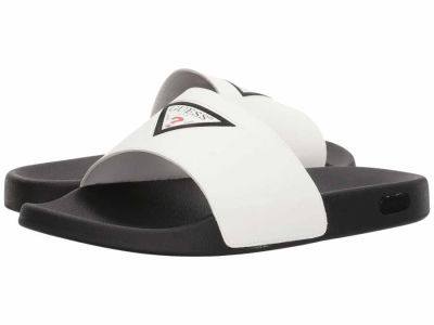 Guess - GUESS Men's White Isaac 2 Sandals