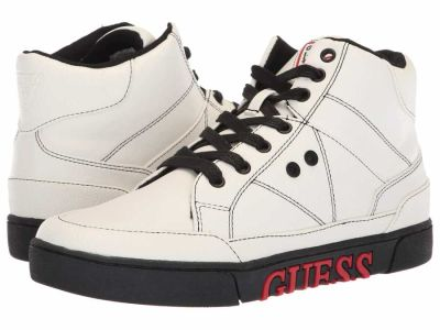 Guess - GUESS Men's White Multi LL Annex Lifestyle Sneakers