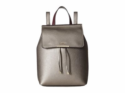 Guess - Guess Pewter/Burgundy Varsity Pop Backpack