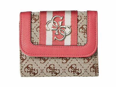 Guess - Guess Pink Vintage Slg Small Trifold Tri-Fold Wallet