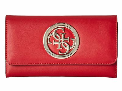 Guess - Guess Red Rodeo Slg Slim Clutch Tri-Fold Wallet