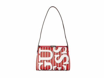 Guess - Guess Red Stripe Urban Chic Frame Shoulder Bag