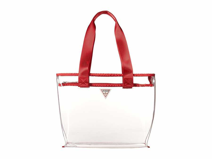 Guess Red Vision Medium Tote Handbag