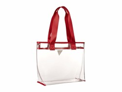 Guess Red Vision Medium Tote Handbag - Thumbnail