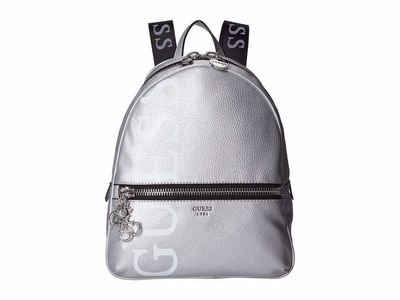 Guess - Guess Silver Urban Chic Large Backpack