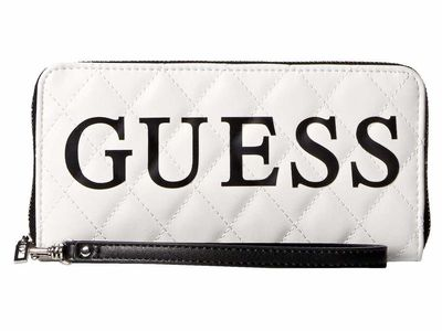Guess - Guess White Multi Sweet Candy Slg Large Zip Around Checkbook Wallet