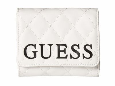 Guess - Guess White Multi Sweet Candy Slg Small Trifold Tri-Fold Wallet