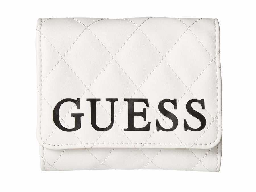 Guess White Multi Sweet Candy Slg Small Trifold Tri-Fold Wallet