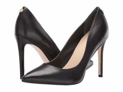 Guess - Guess Women Black Leather Crew Pumps