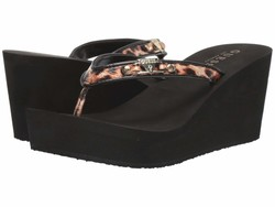 Guess Women Black Lefts Heeled Sandals - Thumbnail