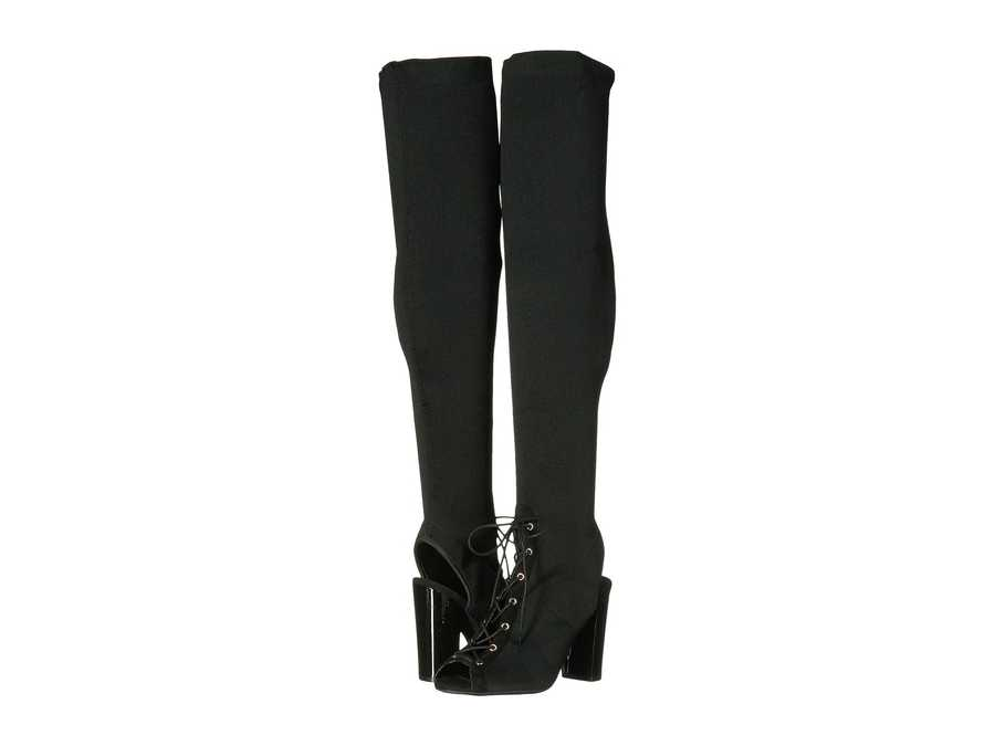 Guess Women Black Stretch Calene Over The Knee Boots