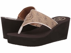 Guess Women Brown Solene Heeled Sandals - Thumbnail