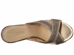Guess Women Gold Eleonora Heeled Sandals - Thumbnail