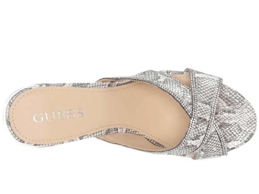 Guess Women White Eleonora Heeled Sandals