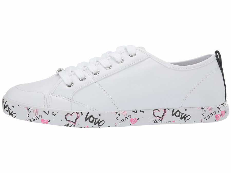 Guess Women White Goodly Lifestyle Sneakers