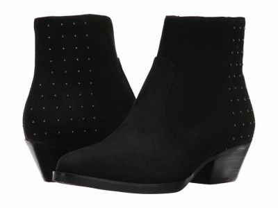 Guess - GUESS Women's Black Fabric Velina Ankle Boots Booties