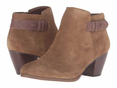 Guess - GUESS Women's Medium Brown Suede Geora Ankle Boots Booties