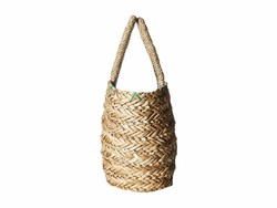 Hat Attack Natural Mini Palm Tote Handbag - Thumbnail