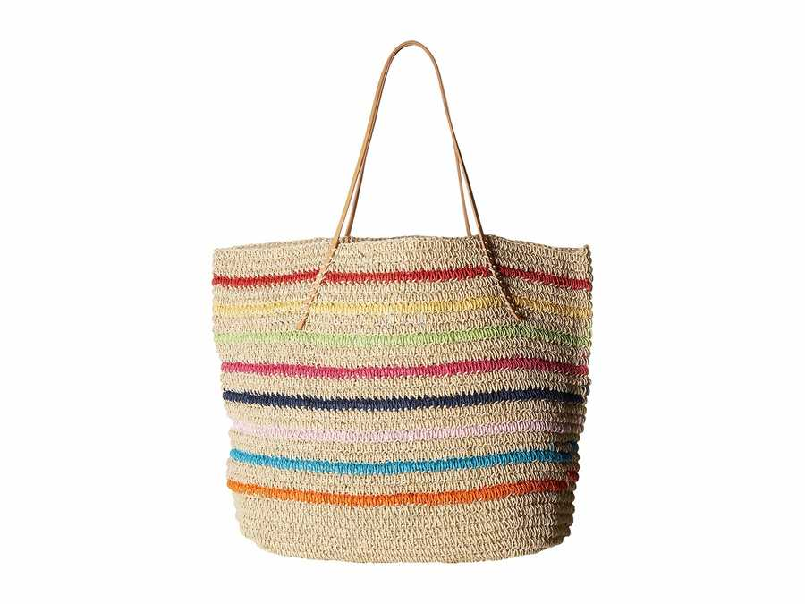 Hat Attack Rainbow Packable Twisted Tote Handbag