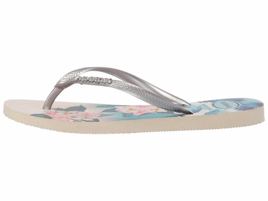 Havaianas Women Beige Slim Tropical Sunset Flip Flops