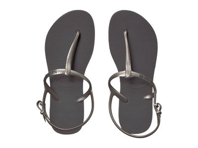 Havaianas Women Grey Freedom Sl Flip-Flops Flat Sandals