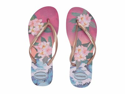 Havaianas - Havaianas Women Hollywood Rose Slim Tropical Sunset Flip Flops