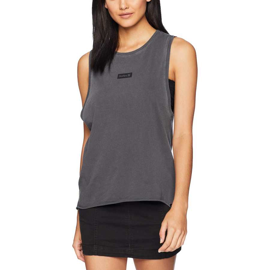 Hurley Anthracite One And Only Box Biker Tank
