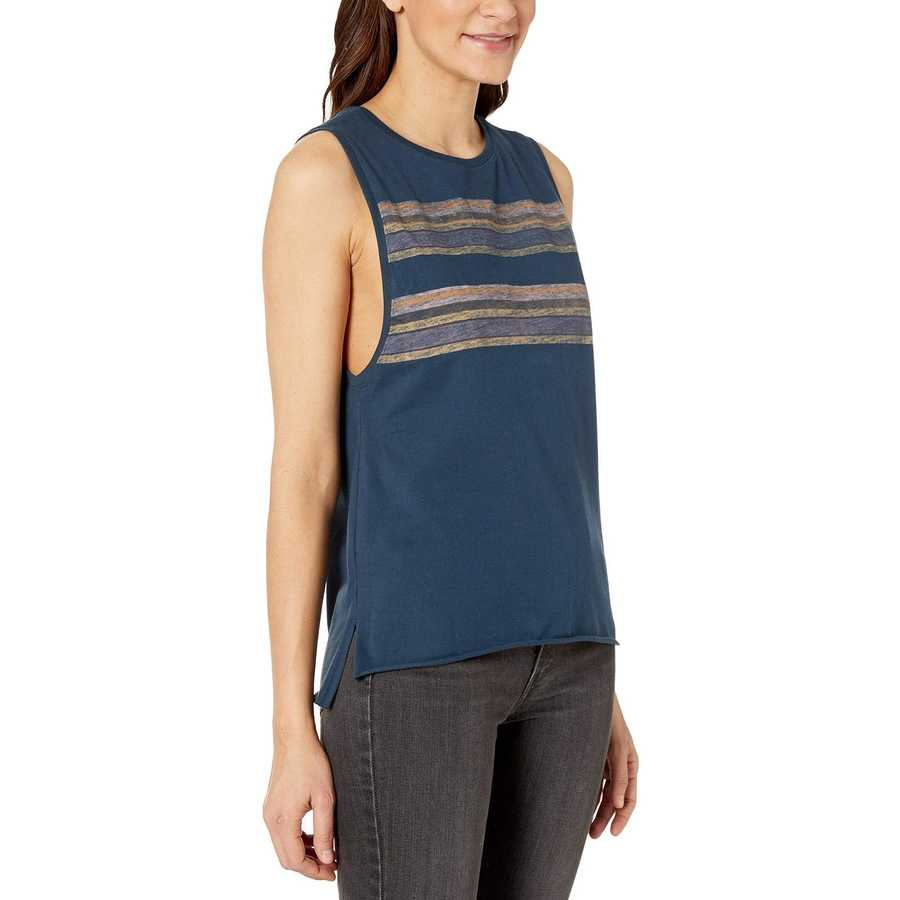 Hurley Armory Navy Pendleton Badlands Biker Tank Top