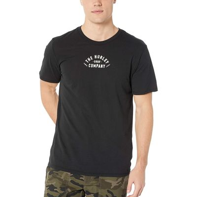 Hurley - Hurley Black Dri-Fit 3Rd Base Short Sleeve Tee