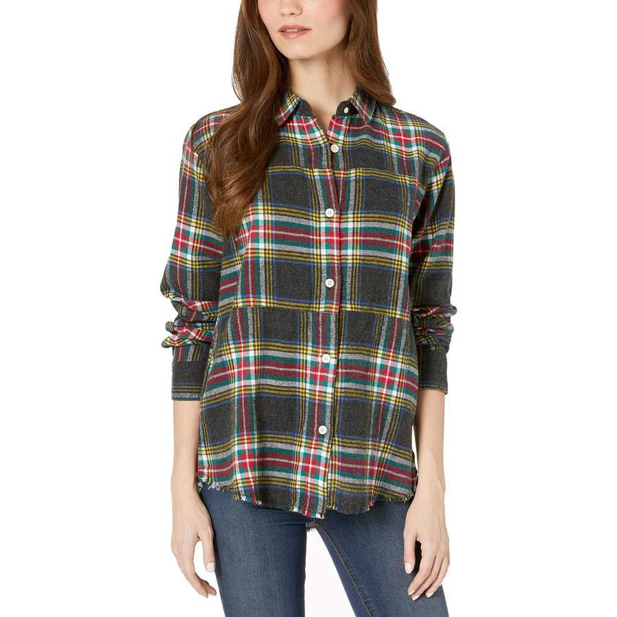 Hurley Black Wilson Flannel Top Long Sleeve
