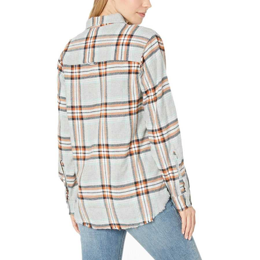 Hurley Dark Grey Heather Wilson Flannel Top Long Sleeve