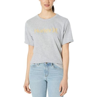 Hurley - Hurley Grey Heather/Melon Tint One And Only Solid Perfect Short Sleeve Crew