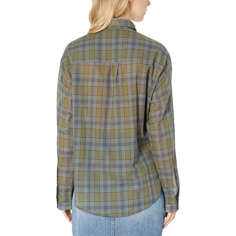 Hurley Medium Olive Wilson Plaid Dolman Long Sleeve