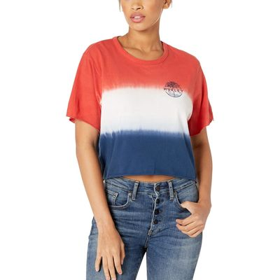 Hurley - Hurley Red/Obsidian Palmscape Crop Crew Tee Short Sleeve