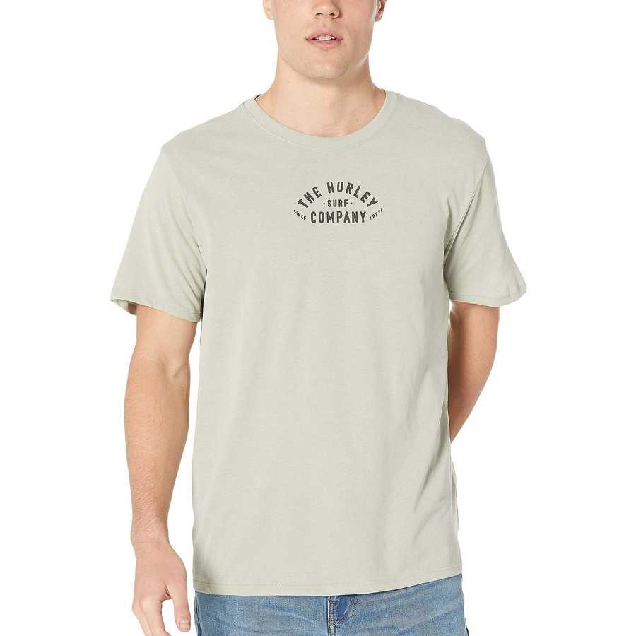 Hurley Spruce Fog Dri-Fit 3Rd Base Short Sleeve Tee