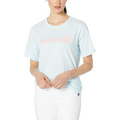 Hurley Topaz Mist One And Only Solid Perfect Short Sleeve Crew