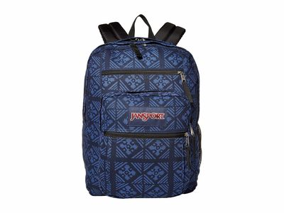 Jansport - Jansport Blue İndigo Adire Big Student Backpack