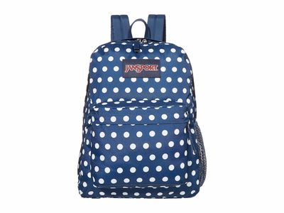 Jansport - Jansport Dark Denim Polka Dot Print Hyperbreak Backpack