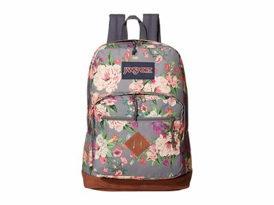 Jansport - Jansport Grey Bouquet Print City View Backpack