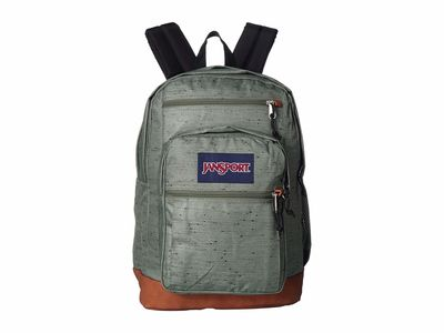 Jansport - Jansport Muted Green Plain Weave Cool Student Backpack