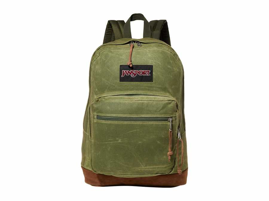 Jansport New Olive Canvas Right Pack Expressions Backpack