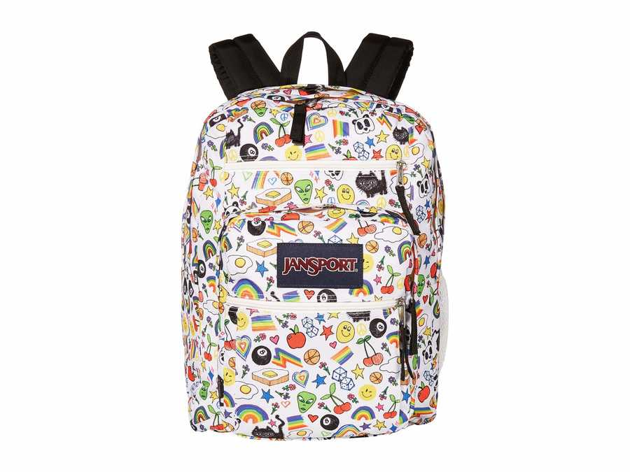 Jansport Over The Rainbow Print Big Student Backpack