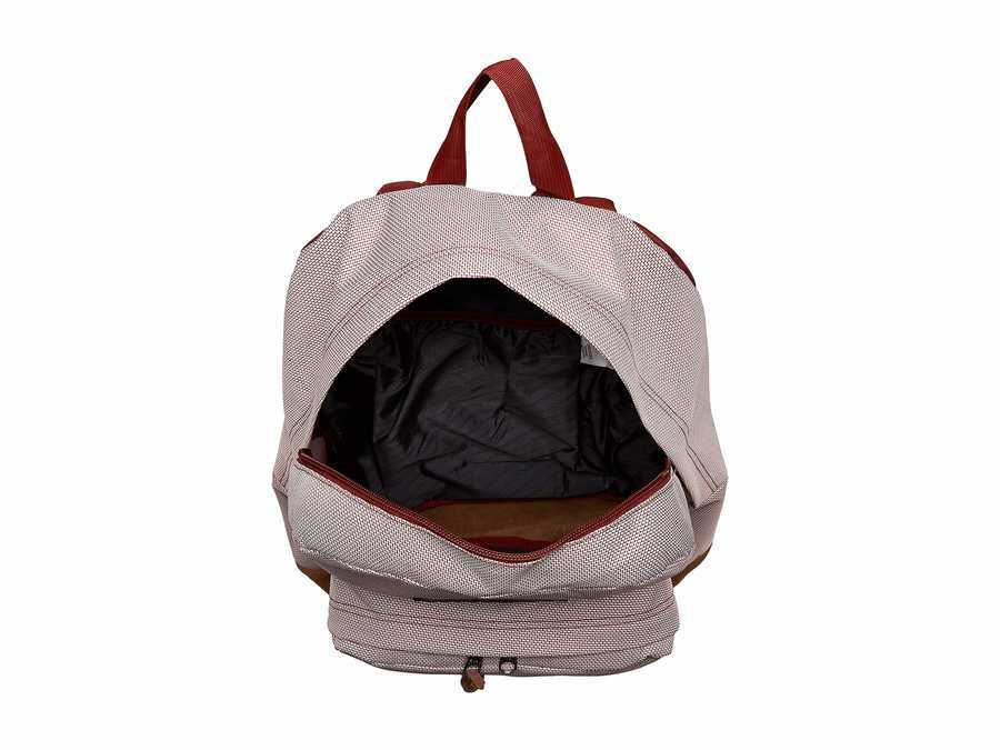 Jansport Red Rust Crosshatch Dobby Right Pack Expressions Backpack