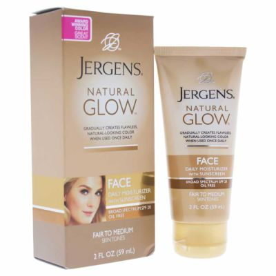 Jergens - Jergens Natural Glow Face Daily Moisturizer SPF 20 - Fair to Medium 2 oz