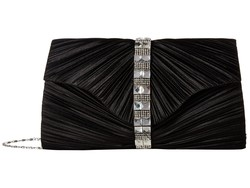 Jessica Mcclintock Black Florence Satin Cross Body Bag - Thumbnail