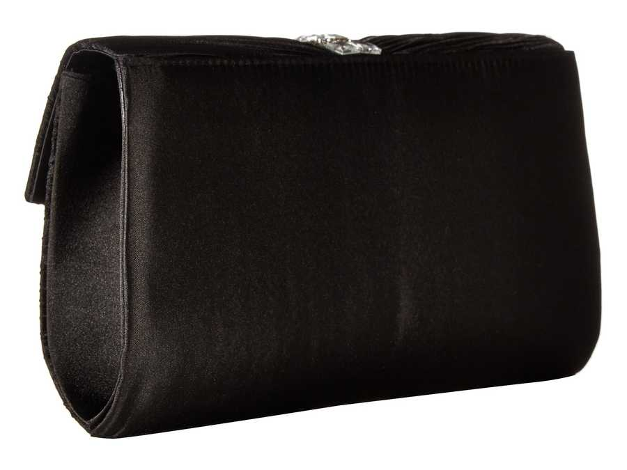 Jessica Mcclintock Black Florence Satin Cross Body Bag
