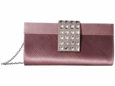 Jessica Mcclintock - Jessica Mcclintock Dusty Lilac Elina Jeweled Clutch Clutch Bag