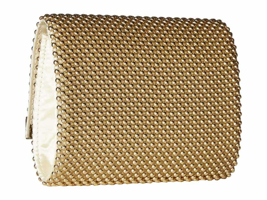 Jessica Mcclintock Light Gold Katie Bar Flap Clutch Bag