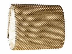 Jessica Mcclintock Light Gold Katie Bar Flap Clutch Bag - Thumbnail